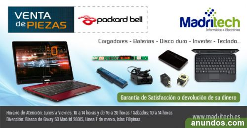 Batería Compatible AS09C75 para portátiles PackardBell