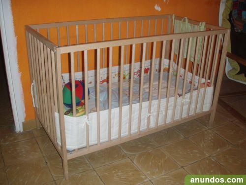 Carro de beb cuna mesa de cambiador armario y silla de for Mesa cambiador bebe