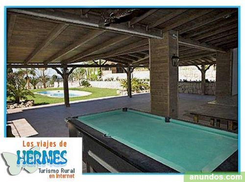 Casa rural con piscina privada y terraza ideal grupos for Casa rural con piscina privada