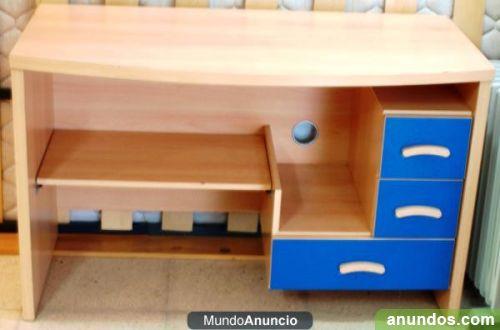 Mesa de ordenador escritorio conjunto juvenil habitacion - Mesa escritorio juvenil ...