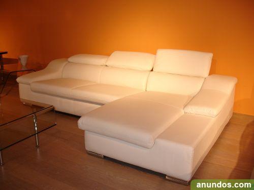 Sof chaise longue de piel italiana nuevo alc dia de for Sofas de piel con chaise longue