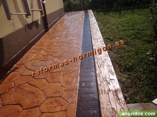 Hormigon impreso y pulido pavimento decorativo vila de Pavimento hormigon pulido