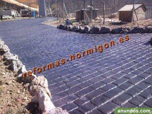 Hormigon impreso y pulido pavimento decorativo vila de - Pavimento hormigon pulido ...