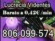 Tarot economico lucrecia. 806 099 574. barato y bueno a 0,42€/min