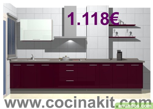Muebles de cocina en kit tienda online valladolid ciudad for Comprar modulos de cocina en kit