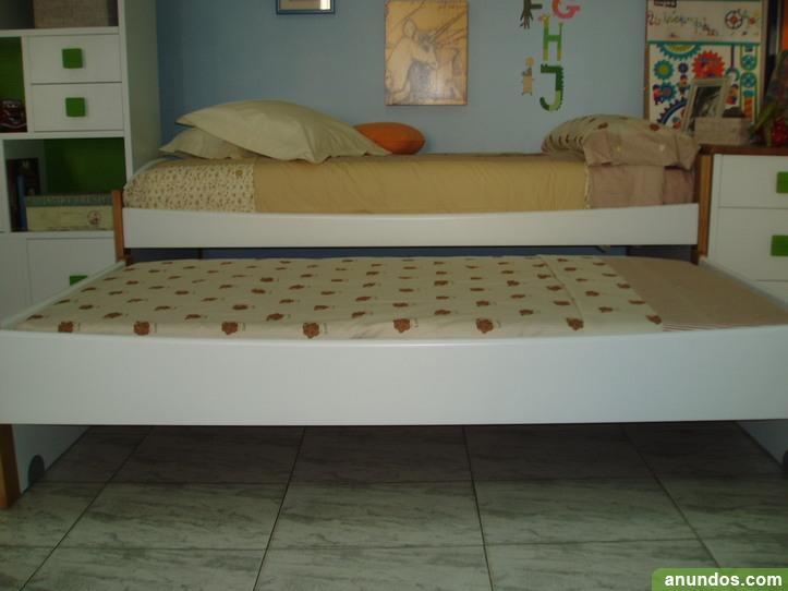 oferta compacto dos camas y tres cajones madera maciza