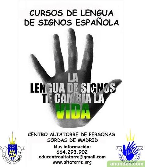 Cursos lengua de signos espa ola en madrid madrid ciudad for Cursos de interiorismo madrid
