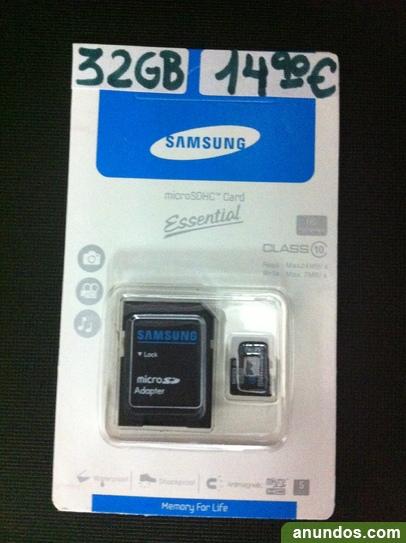 Tarjeta micro sd 32 gb solo 14,90€ marca samsung clase 10