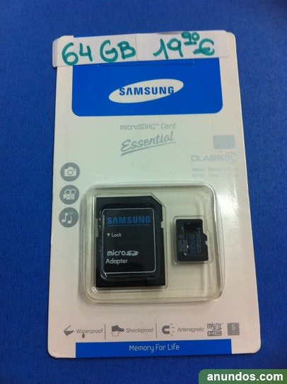Tarjeta micro sd 64 gb solo 19,90 € marca samsung clase 10 ,nueva