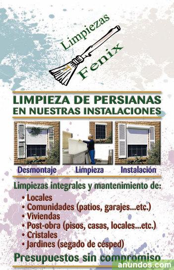 Limpieza de persianas locales pisos comunidades obra for Limpieza de comunidades en granada
