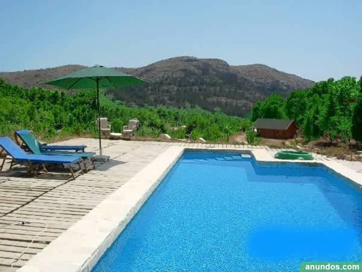 Casa rural Alicante, barbacoa y chimenea