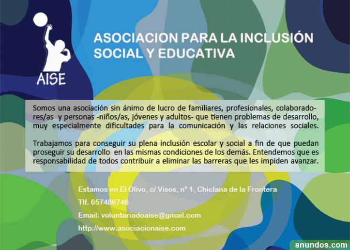 HACER VOLUNTARIADO EN Asoc. Inclusión Social y Educativa (AISE)