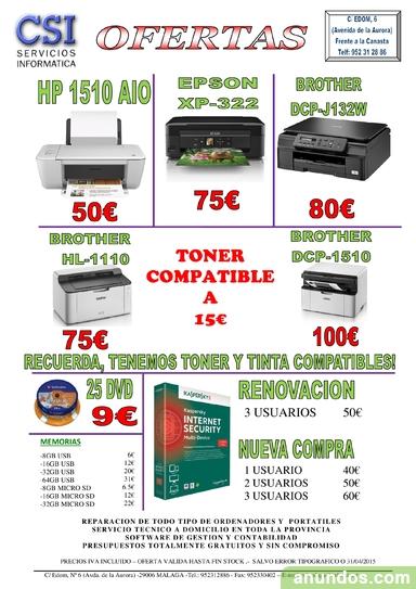 REPARACION DE ORDENADORES, IMPRESORAS, TABLETS y SMARTPHONES