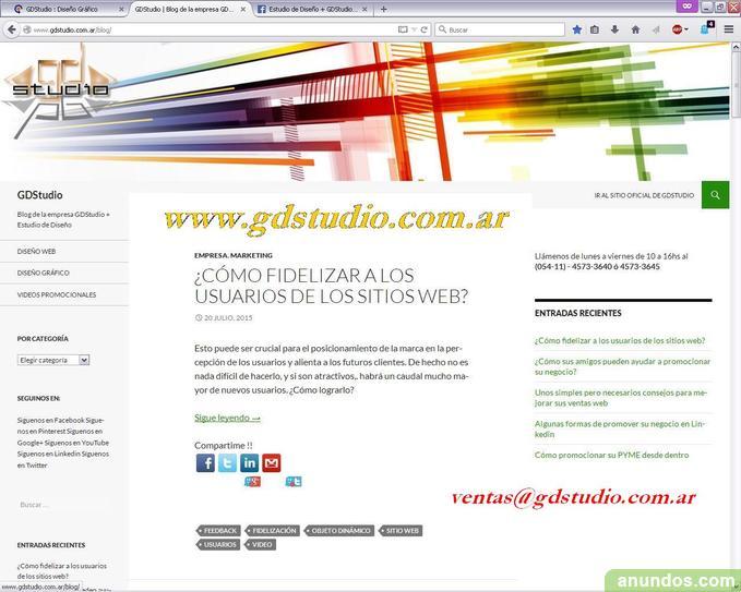 Diseño web profesional - diseño responsive - gdstudio
