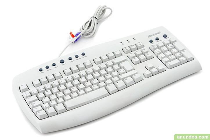 Teclado de ordenador microsoft blanco