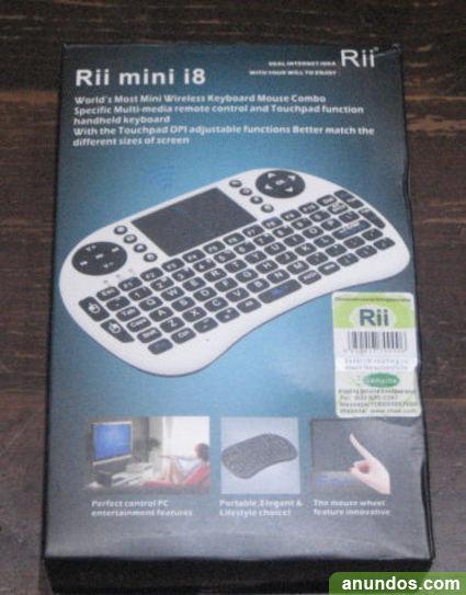 Teclado inalambrico con touchpad Rii mini i8