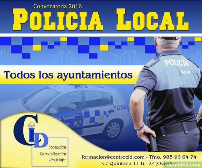Convocatoria 2016 - Cuerpo Policía Local Asturias