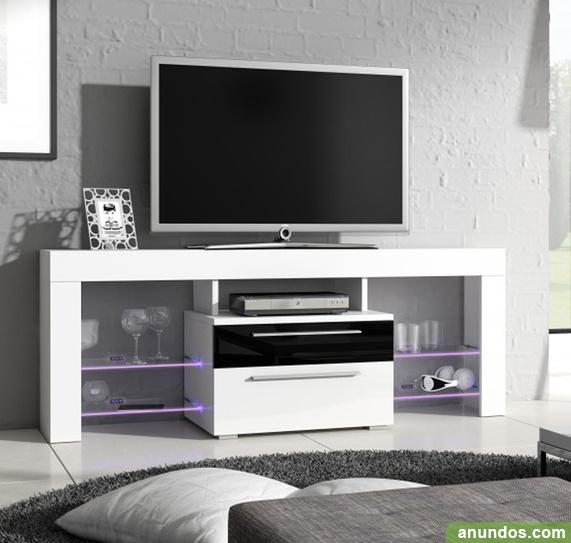 Mueble tv modelo telmo en color blanco 1 5m madrid ciudad - Muebles tv madrid ...