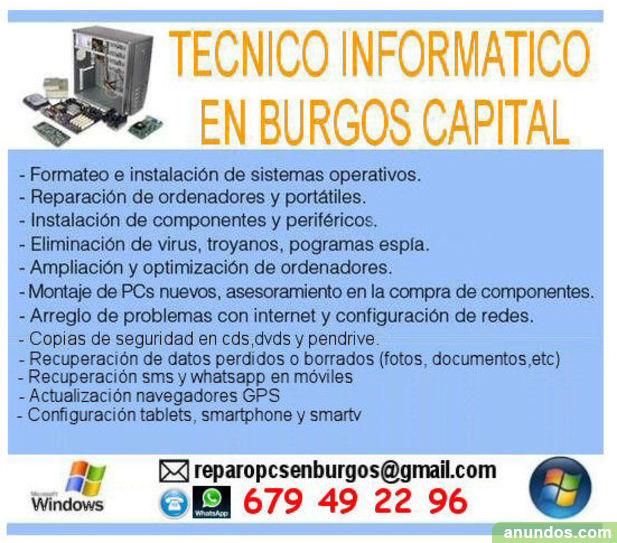 Reparación equipos informáticos en Burgos