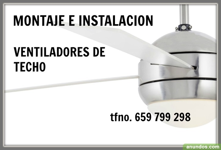 VENTILADOR DE TECHO- instalación-ELECTRICIDAD-económico-EL RESTON