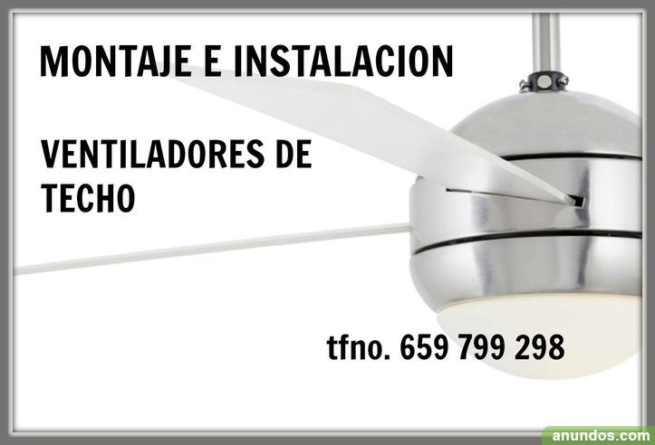 Ventilador de techo instalaci n electricidad econ mico - Instalacion de ventilador de techo ...