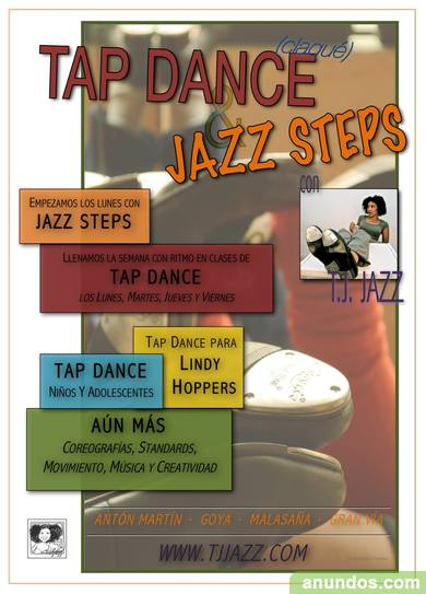 Clases de Tap Dance (claqué), Jazz Steps, Música y Más con T.J. J