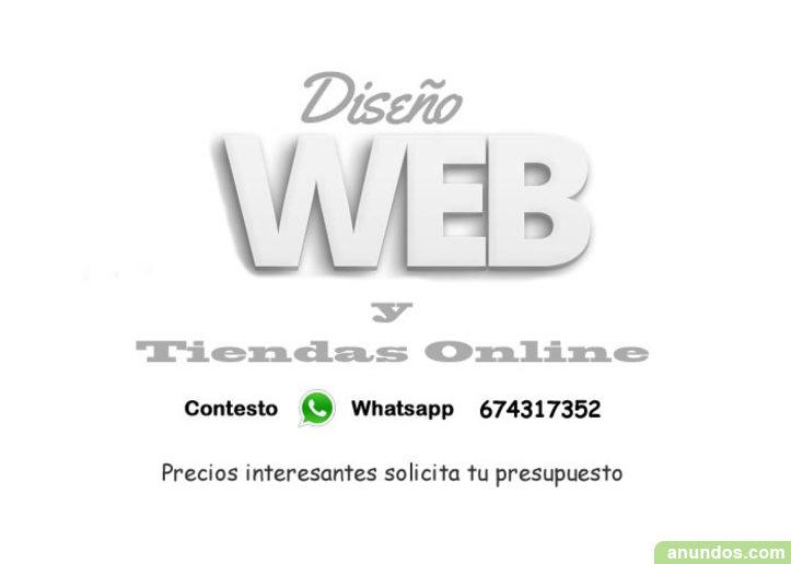 Diseño web y Tienda online Hosting y Dominio incluido