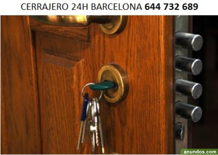 Cerrajero Barcelona Urgencias 24h 644732689