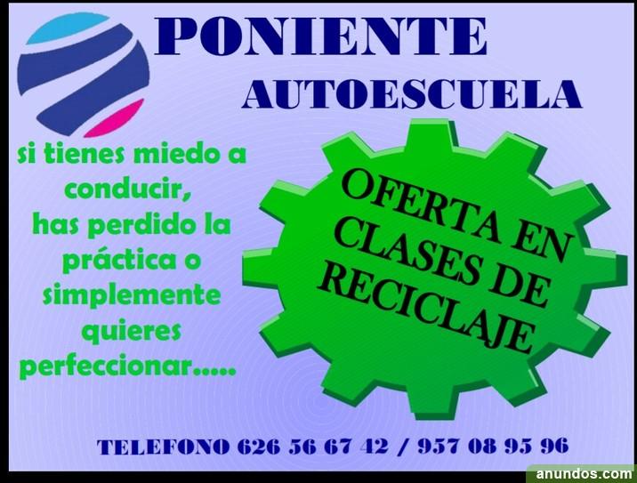 ¡Ofertas de clases de reciclaje!