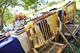 Silla plegable de bambú
