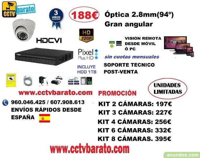 Oferta kit videovigilancia Interior 720p 94º