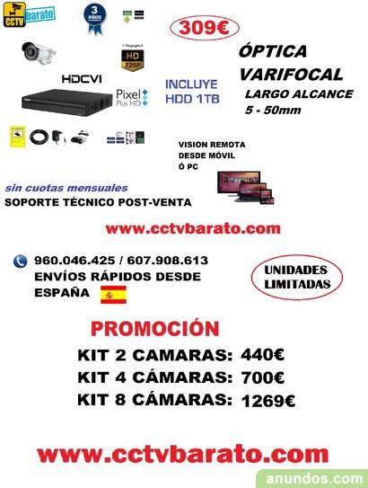 Oferta kit videovigilancia Varifocal Largo Alcance