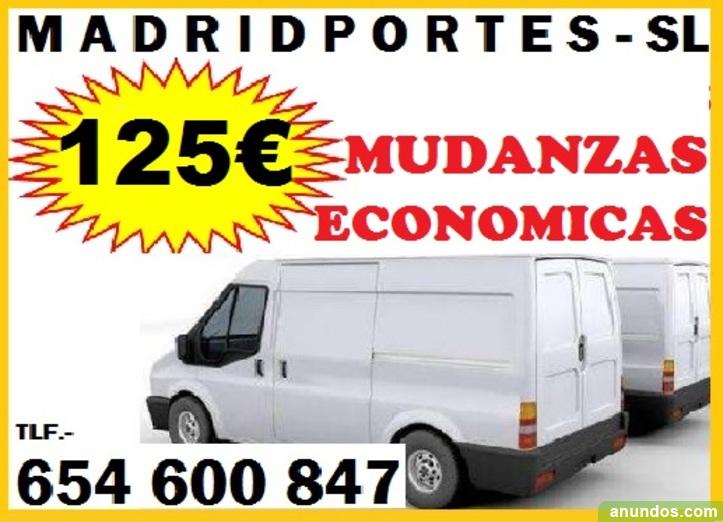 Retiro.125€-mini-mudanzas 91(368)9819 portes economicos