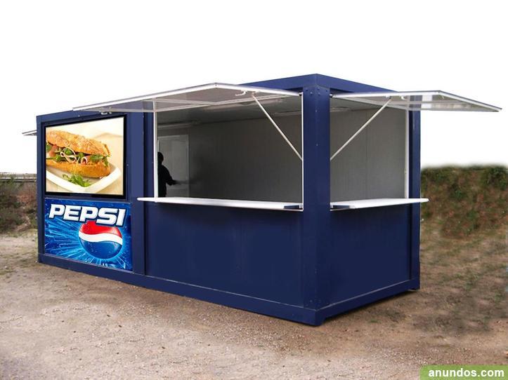Caseta modular adaptada para hacer ventas tipo chiringito