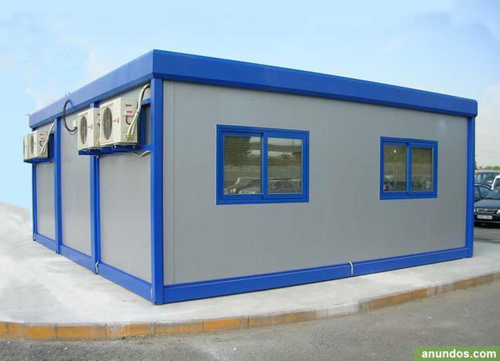 Tienda o oficina de color azul