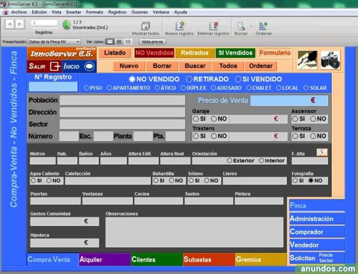 Programa Gestión Inmobiliaria Agencias InmoServer 6.0