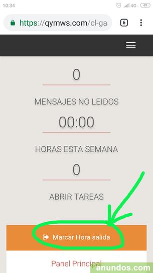 Control horario laboral-Aplicación on line