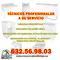Técnicos profesionales a tu servicio 632.56.98.03