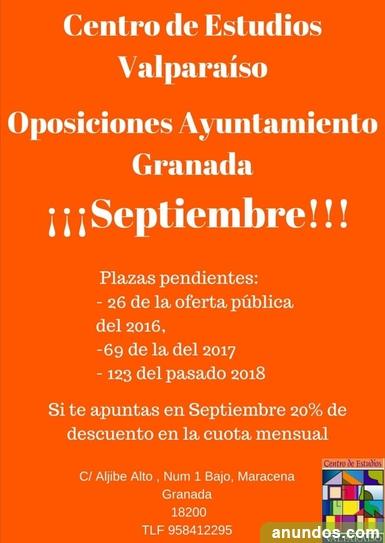 Oposiciones ayuntamiento de granada